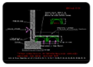 Detalle sección forjado sanitario Módulo' H27
